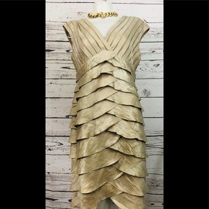Adrianna Papell Ruffle Layered Cocktail Dress